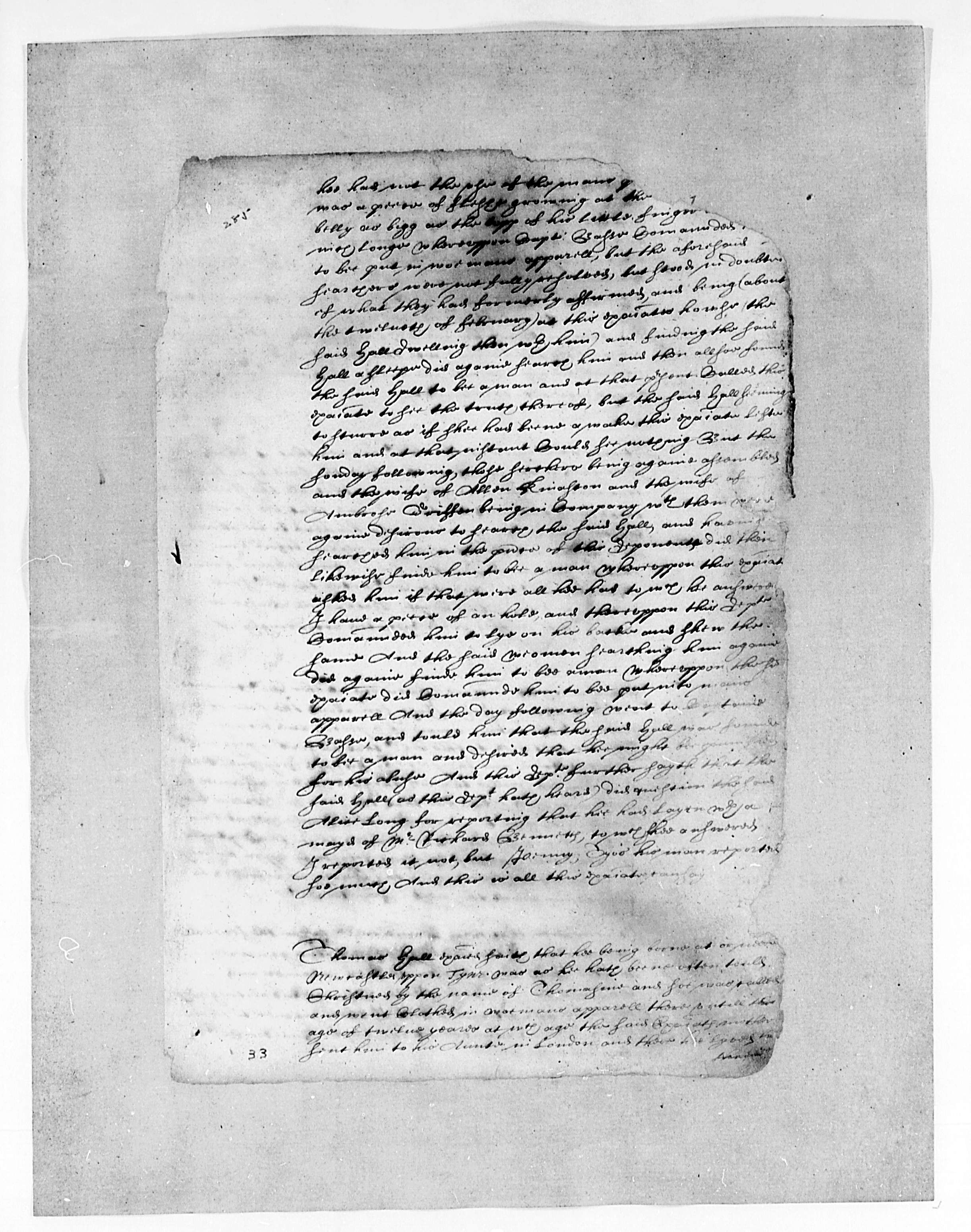Thomas Jefferson Papers. Series 8, Virginia Records, Virginia General Court, 1622-1629, Cases, with Minutes. Library of Congress Manuscript Division.