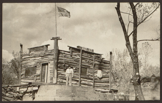 Photograph of Captain Pearl R. Nye Standing Outside Camp Charming