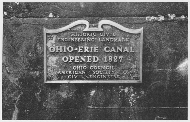Plaque Commemorating Opening of Ohio and Erie Canal