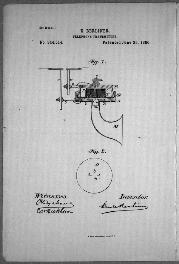 Telephone-Transmitter: specification forming part of Letters Patent no.344,514, dated 1886 June 29