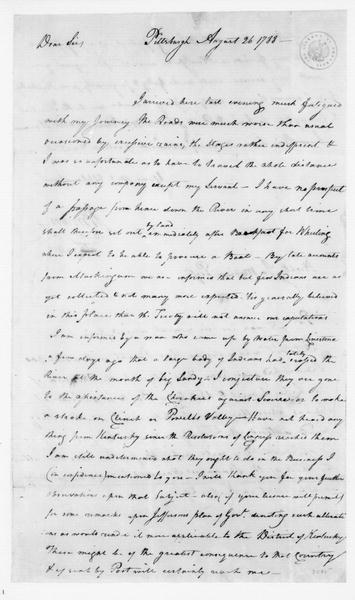 John Brown to James Madison, August 26, 1788.