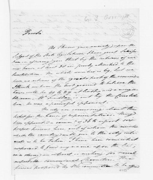 Tench Coxe to James Madison, October 22, 1788.