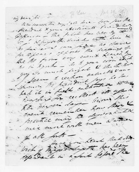 Henry Lee to James Madison, July 29, 1791.
