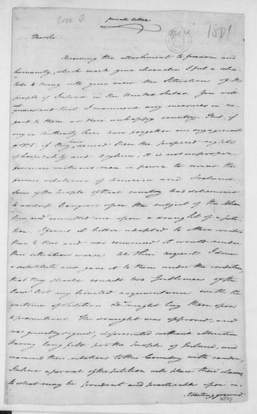 Tench Coxe to James Madison, April 4, 1801. Private Letter.