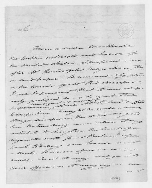 Tench Coxe to James Madison, October 17, 1801.