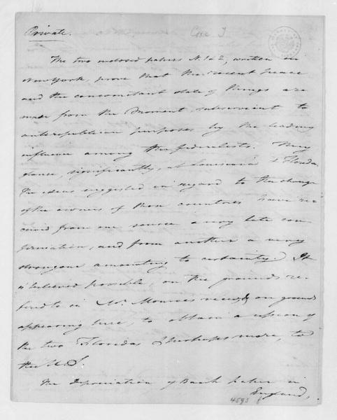 Tench Coxe to James Madison, December 12, 1801.