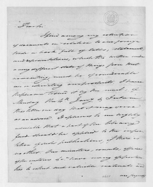 Tench Coxe to James Madison, January 4, 1802.