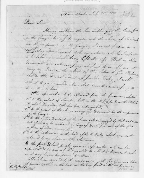 Albert Gallatin to James Madison, July 21, 1802. and a Statement of Navy finances.