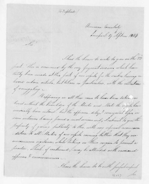 James Maury to James Madison, September 19, 1804.