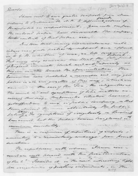 Tench Coxe to James Madison, July 4, 1807.