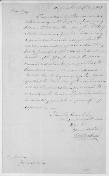 Matthews to James Madison, March 19, 1808.