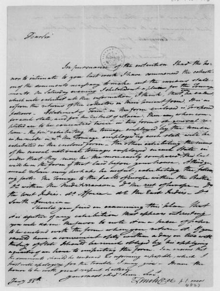 Tench Coxe to James Madison, January 25, 1810.