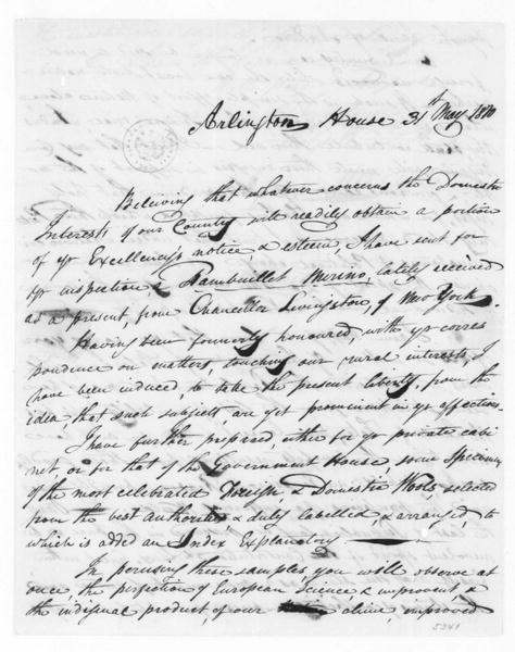 George Custis to James Madison, May 31, 1810.