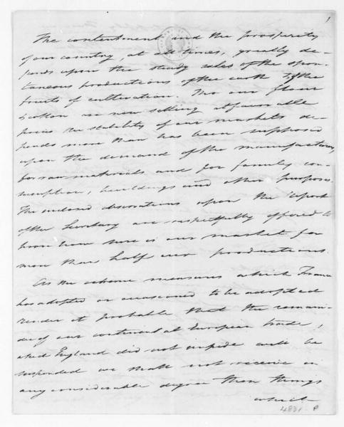 Tench Coxe to James Madison, May, 1810.
