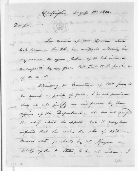 George Duvall to Albert Gallatin, August 15, 1810.