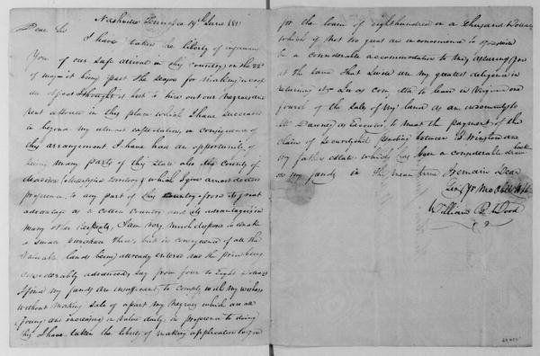 William B. Wood to James Madison, June 19, 1811.