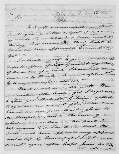 Tench Coxe to James Madison, August 13, 1812.