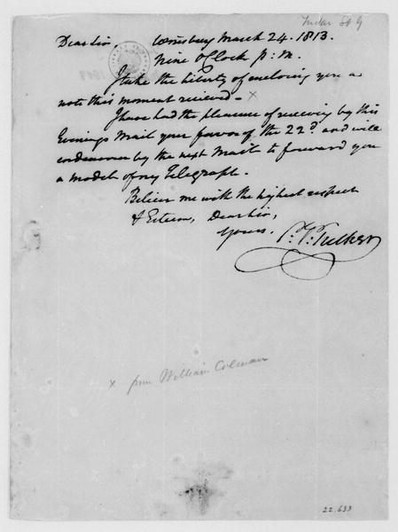 St. George Tucker to James Madison, March 24, 1813.
