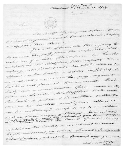 Tench Coxe to James Madison, March 10, 1814.