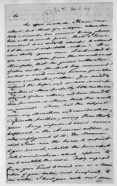 Tench Coxe to James Madison, February 8, 1817.