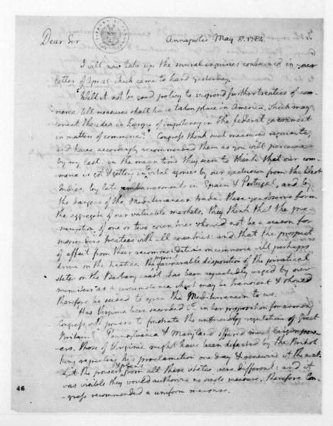 Thomas Jefferson to James Madison, May 8, 1784. See also S1-V5-P1.