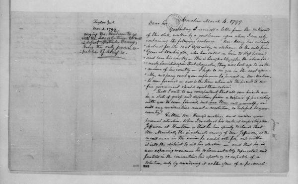 John Taylor to James Madison, March 4, 1799.