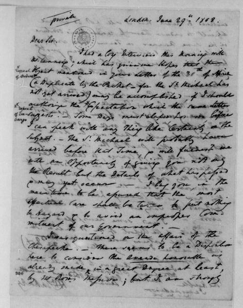 William Pinkney to James Madison, June 29, 1808.