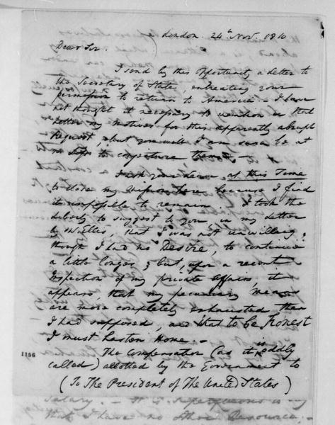 William Pinkney to James Madison, November 24, 1810.