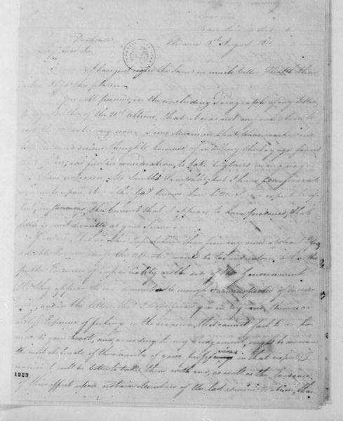 George Joy to James Madison, August 15, 1811. With Copy.