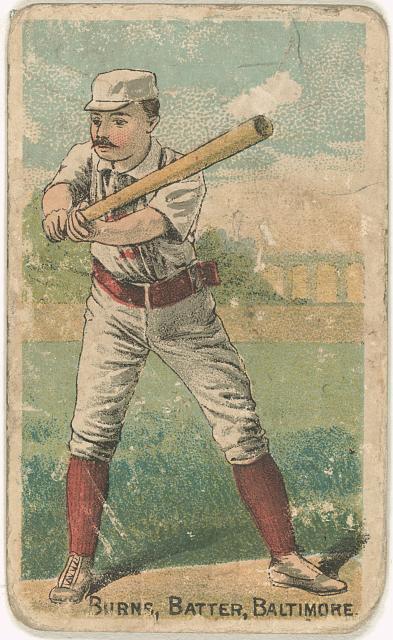 [Oyster Burns, Baltimore Orioles, baseball card portrait]