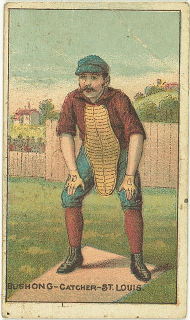 [Doc Bushong, St. Louis Browns, baseball card portrait]
