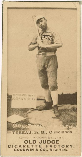 [Patsy Tebeau, Cleveland Spiders, baseball card portrait]