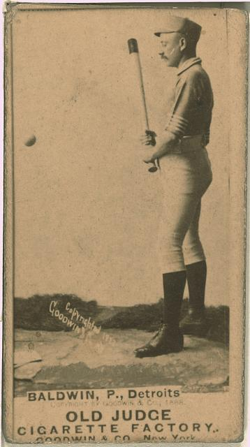 [Lady Baldwin, Detroit Wolverines, baseball card portrait]