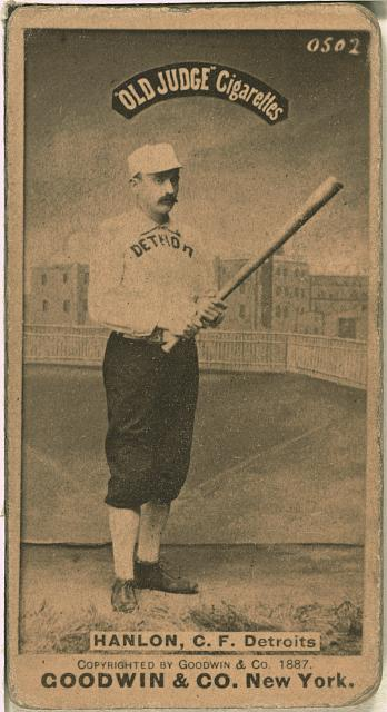 [Ned Hanlon, Detroit Wolverines, baseball card portrait]