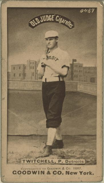 [Larry Twitchell, Detroit Wolverines, baseball card portrait]