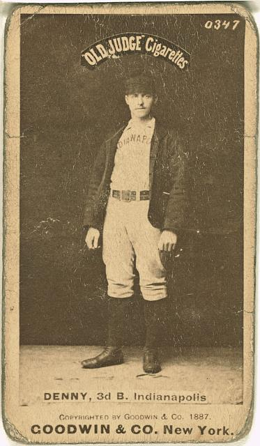 [Jerry Denny, Indianapolis Hoosiers, baseball card portrait]