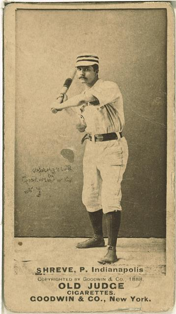 [Lev Shreve, Indianapolis Hoosiers, baseball card portrait]