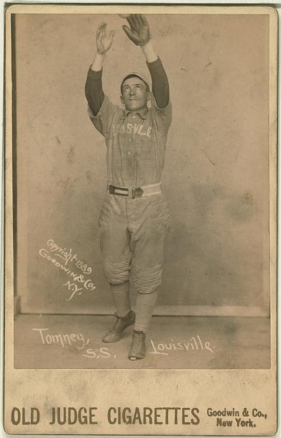 [Phil Tomney, Louisville Colonels, baseball card portrait]