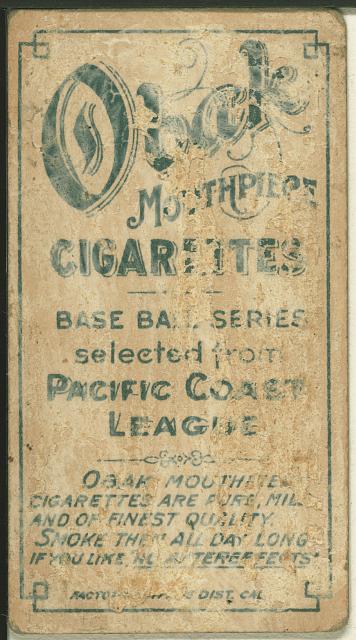 [D. Brown, Vernon Team, baseball card portrait]