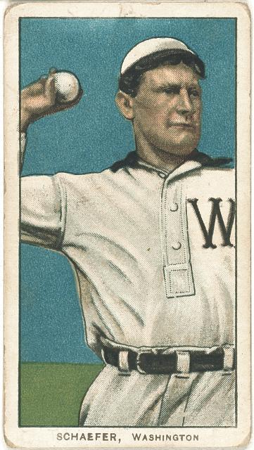 [Germany Schaefer, Washington Nationals, baseball card portrait]
