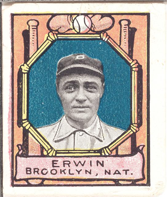 [Tex Erwin, Brooklyn Dodgers, baseball card portrait]