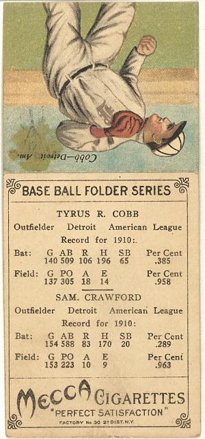 [Sam. Crawford/Tyrus R. Cobb, Detroit Tigers, baseball card portrait]