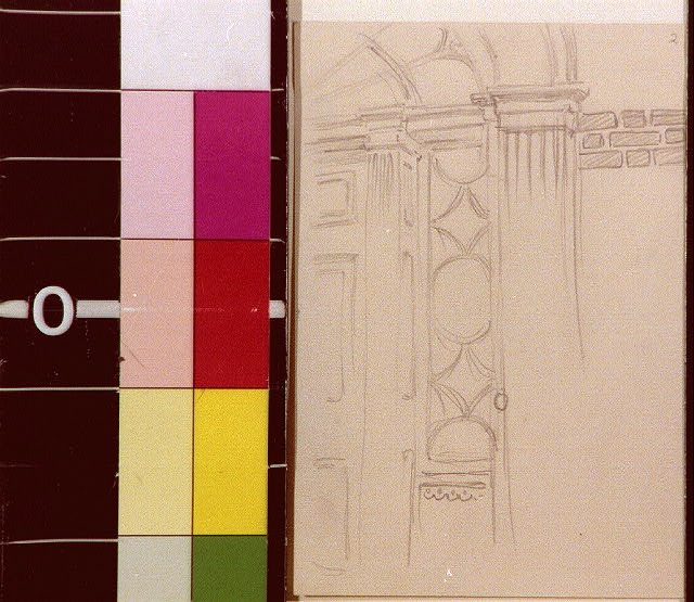 [Doorway with arched lights and pilaster]