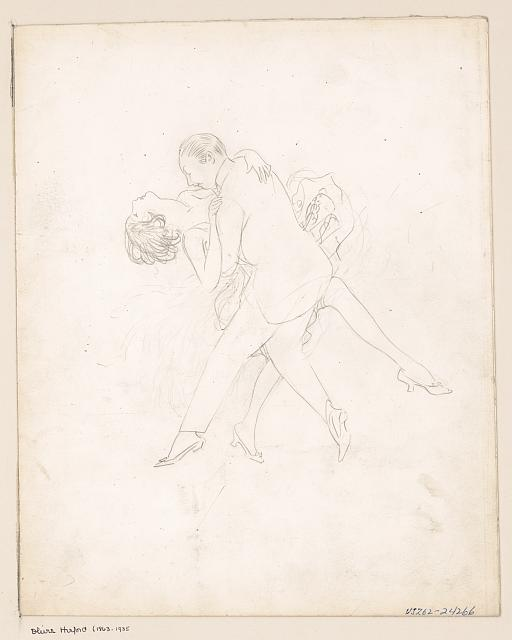 [Man and woman dancing, dipping]