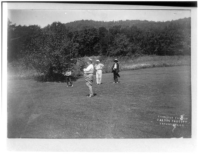 President W.H. Taft and group on golf course