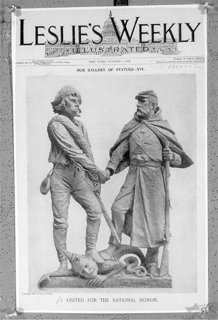 "United for the Nat'l Honor - ""A clay cartoon, 1896"""