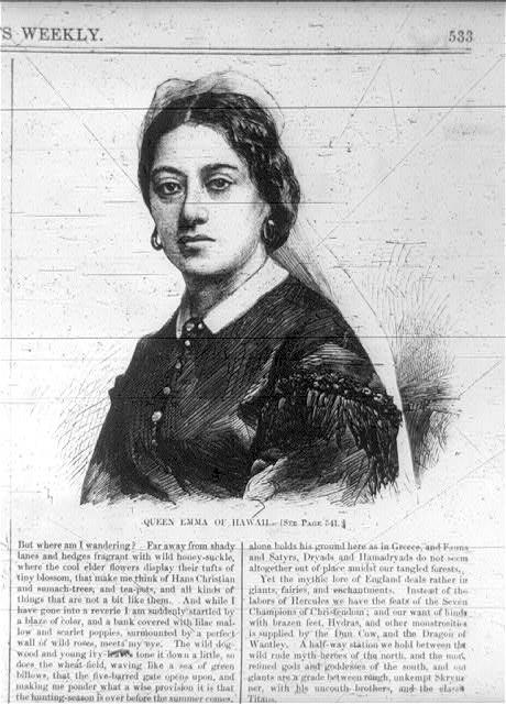 Emma, Consort of Kamehameha IV, King of the Hawaiian Islands, 1836-1885