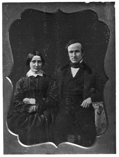 Rutherford B. Hayes and his wife on their wedding day, Dec. 30, 1852