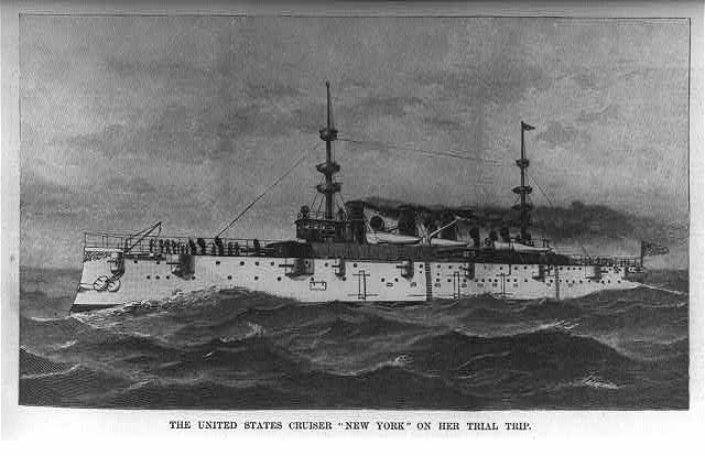 United States Cruiser NEW YORK on her trial trip