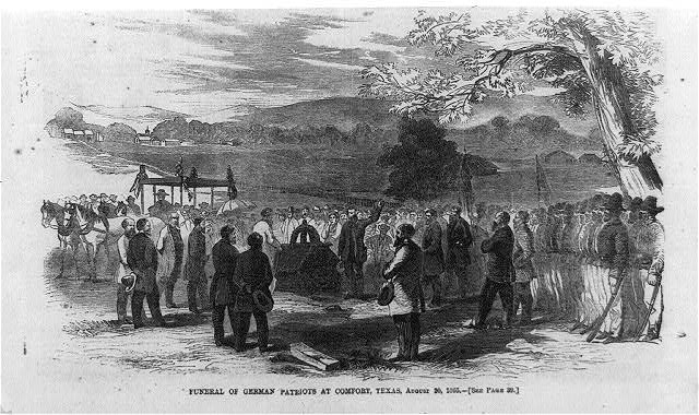 Funeral of German patriots at Comfort, Texas, August 20, 1865